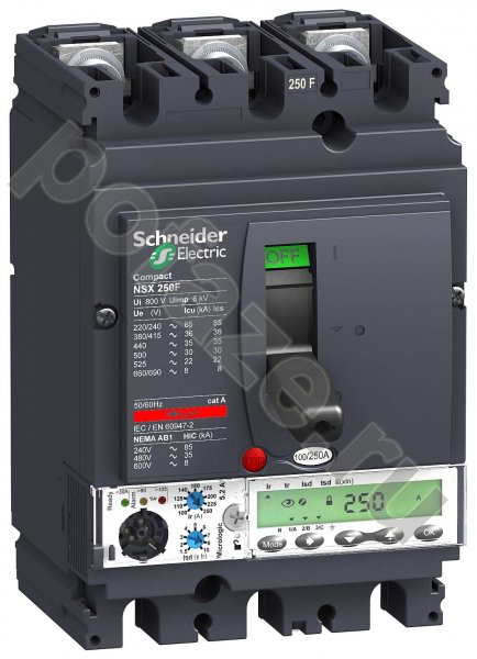 Schneider Electric Compact NSX250F 3П 250А 36кА (IP30)