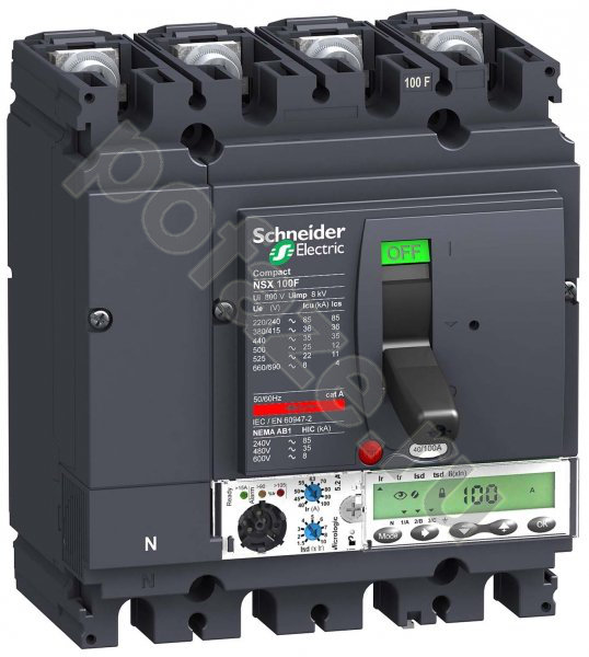 Schneider Electric Compact NSX 4П 50А 50кА (IP30)
