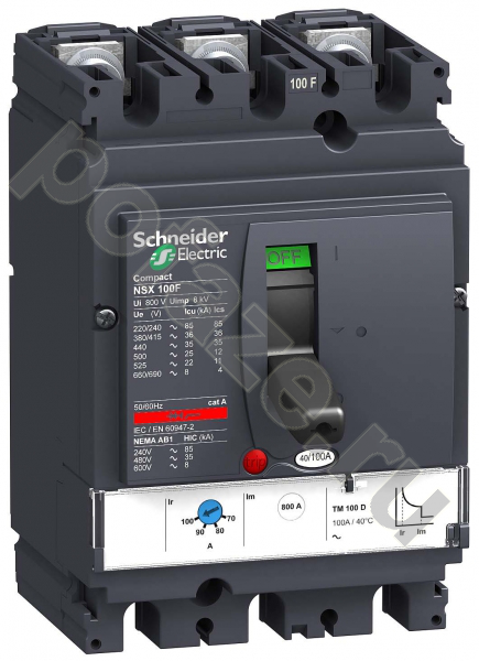 Schneider Electric Compact NSX100B 3П 63А 25кА (IP30)