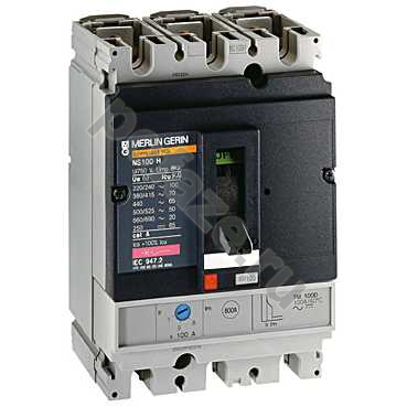 Schneider Electric Compact NS100N 3П 100А 36кА (IP40)