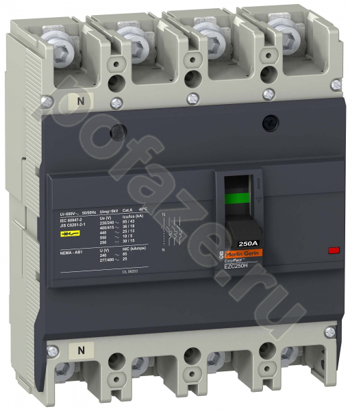 Schneider Electric EasyPact EZC 250 4П 250А 30кА (IP20)
